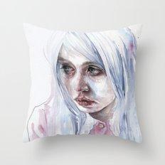 creepychan on moleskine Throw Pillow