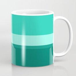 Teal Blue Geometric Coffee Mug
