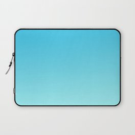 Simply sea blue teal color gradient - Mix and Match with Simplicity of Life Laptop Sleeve