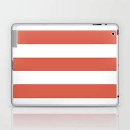 Jelly bean - solid color - white stripes pattern Laptop & iPad Skin