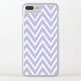 Chevron Wave Blue Ultra Soft Lavender Blush Clear iPhone Case