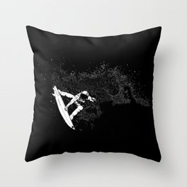 The Surfer Cosmic Throw Pillow
