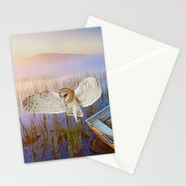 Barn Owl and Boat Stationery Cards