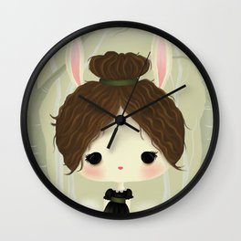 Vivianne the Rabbit Wall Clock