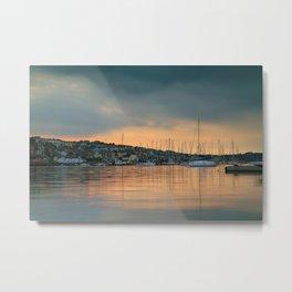 Falmouth Harbour Sunset Metal Print
