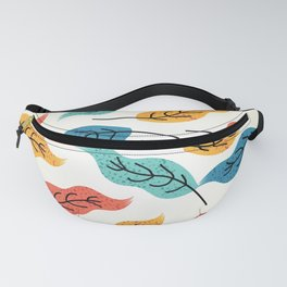 Colorful Autumn Leaves Illustration Fanny Pack