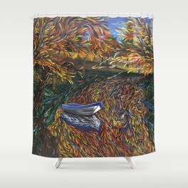 Sailing on perceptions Shower Curtain