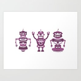 ROBOT TRIO Art Print