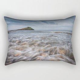 Worm's head on the Gower peninsular Rectangular Pillow