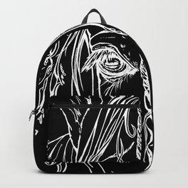 Tribal Horse white on black Backpack