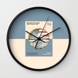 Vote For Liberty Wall Clock