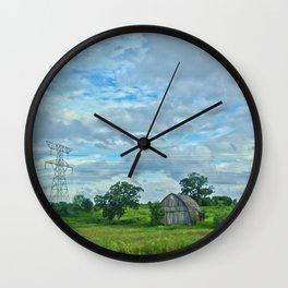 Old Barn in Wisconsin Wall Clock