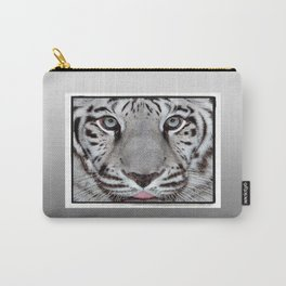 White Tiger with a little tougue Carry-All Pouch