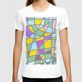 Stain Glass Abstract Meditation Easter Painting T-shirt