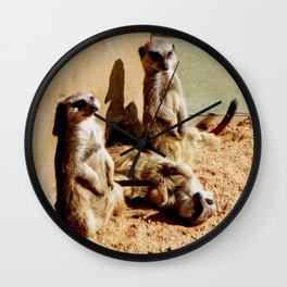 Meerkat Togetherness Wall Clock