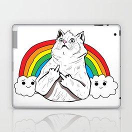 Fluff Off Rainbow Cat Laptop & iPad Skin