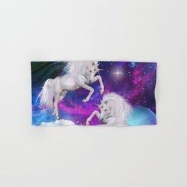 space unicorns v Hand & Bath Towel