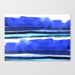 Wave Stripes Abstract Seascape Canvas Print