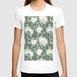 floral, succulent T-shirt