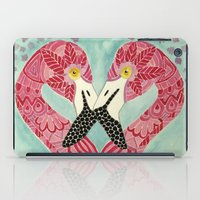flamingos iPad Cases featuring Flamingos  by ArtLovePassion