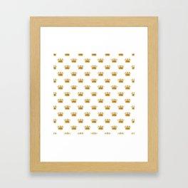 Wedding White Gold Crowns Framed Art Print