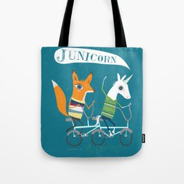Fausto Fox and Junicorn Bikers Tote Bag