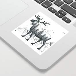 Mountain Moose Sticker