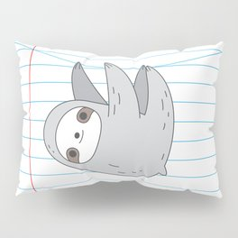 Sloth notebook page Pillow Sham