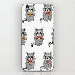 Raccoons with Fruit iPhone Skin