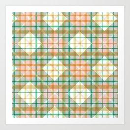 Candy's Handmade Plaid Texture 4 Art Print