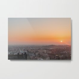 colorful sunset in Bergamo Metal Print