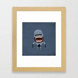 Screaming Robocop Framed Art Print