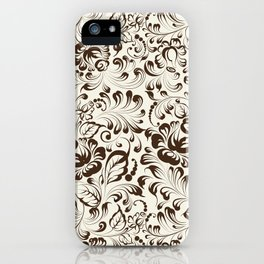 Floral seamless pattern in Gzhel style iPhone Case