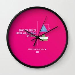 Perfect Logo Series (9 of 11) Wall Clock