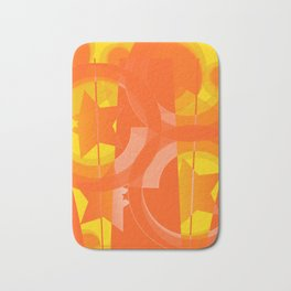 hoe is afraid of orange and yellow Bath Mat