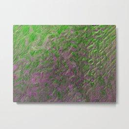Green Purple Sand Metal Print