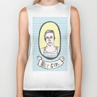 ryan gosling Biker Tanks featuring Ryan Gosling by EmilyScribbles