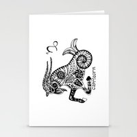 capricorn Stationery Cards featuring Capricorn by Anna Shell