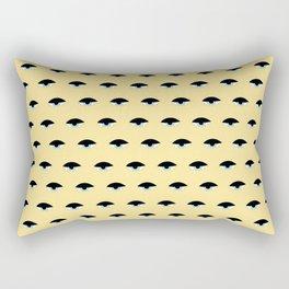 Sleepy Eyes (yellow) Rectangular Pillow