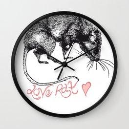 love rat Wall Clock