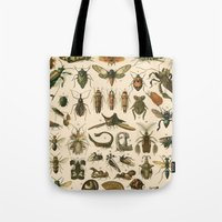 insects Tote Bags featuring Insects by Connie Goldman