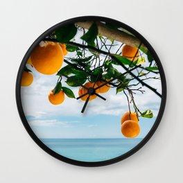 Amalfi Coast Oranges IV Wall Clock
