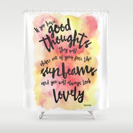 If you have good thoughts... (Red/Yellow Watercolour) Shower Curtain