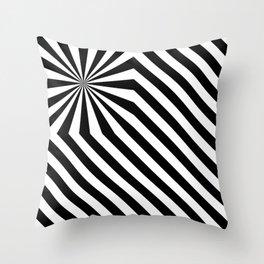 Stripes explosion - Black Throw Pillow