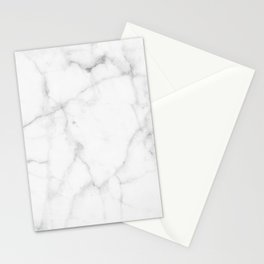 Pure Solid White Marble Stone All Over Stationery Cards