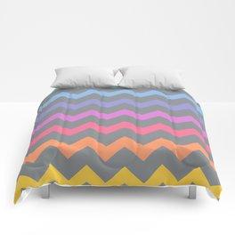 Rainbow Chevron Comforters