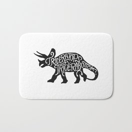 Triceratops or Tricerabottom? Bath Mat