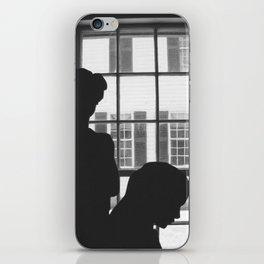 Silhouettes In Window iPhone Skin
