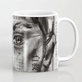 Alert - Charcoal on Newspaper Figure Drawing Coffee Mug