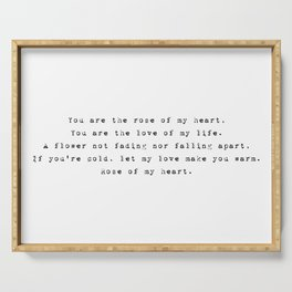 You are the rose of my heart - Lyrics collection Serving Tray